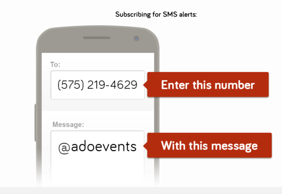 Please sign up for our Text Alerts